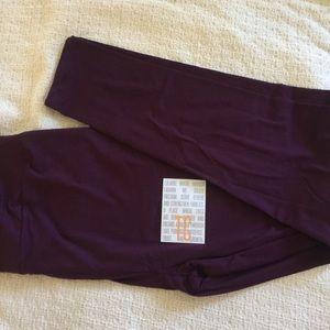 NWT LuLaRoe Solid Purple TC Leggings